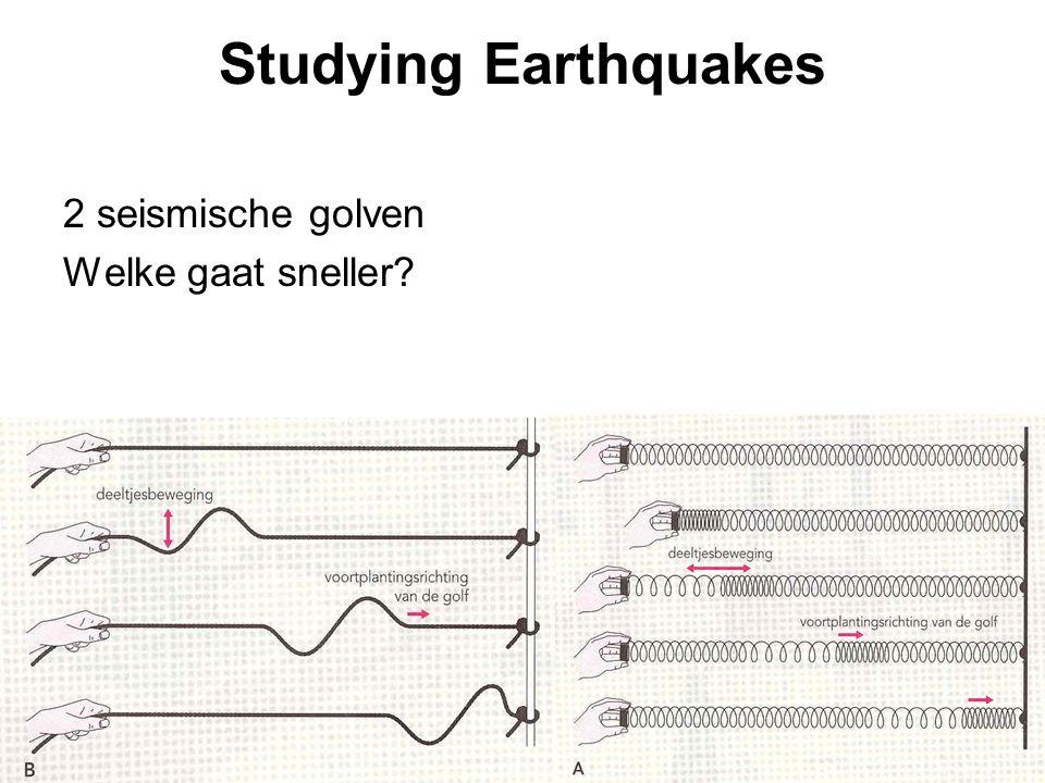 Studying Earthquakes 2 seismische golven Welke gaat sneller