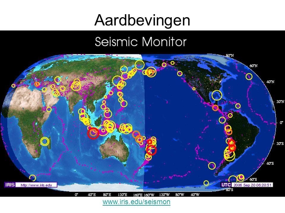 Aardbevingen www.iris.edu/seismon