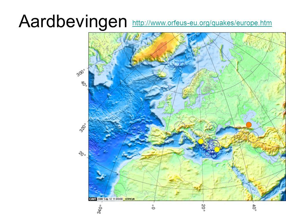 Aardbevingen http://www.orfeus-eu.org/quakes/europe.htm