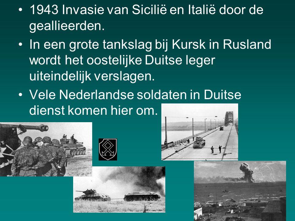 1943 Invasie van Sicilië en Italië door de geallieerden.