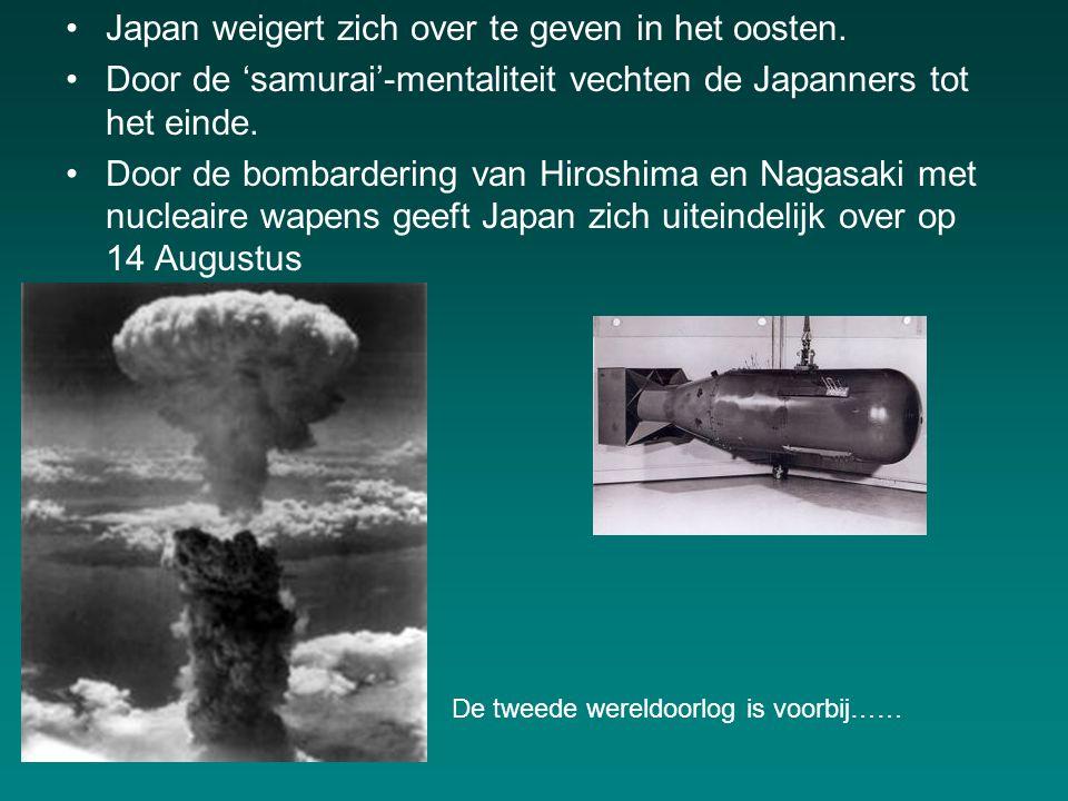 Japan weigert zich over te geven in het oosten.