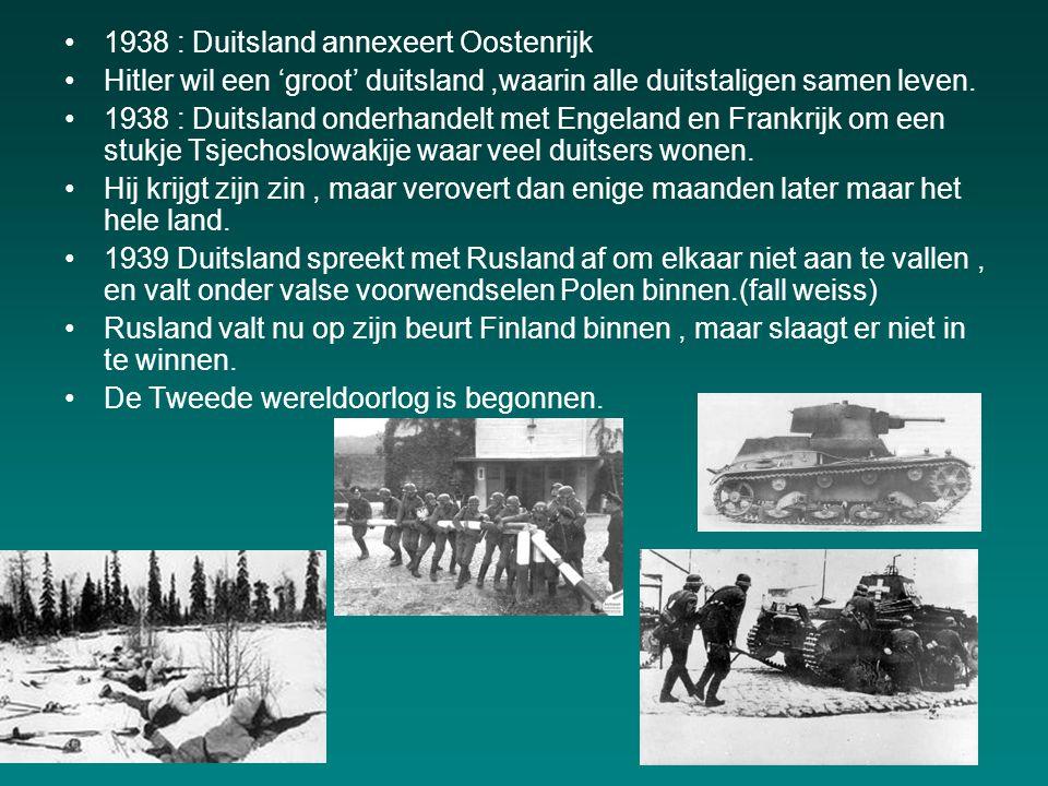 1938 : Duitsland annexeert Oostenrijk