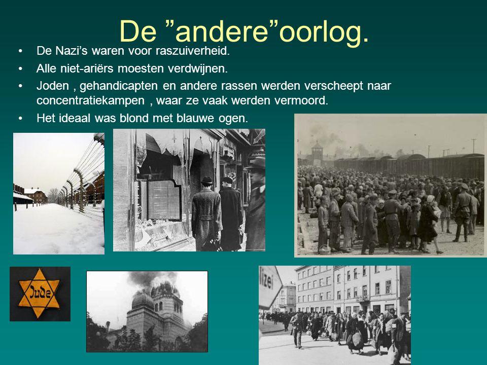 De andere oorlog. De Nazi's waren voor raszuiverheid.