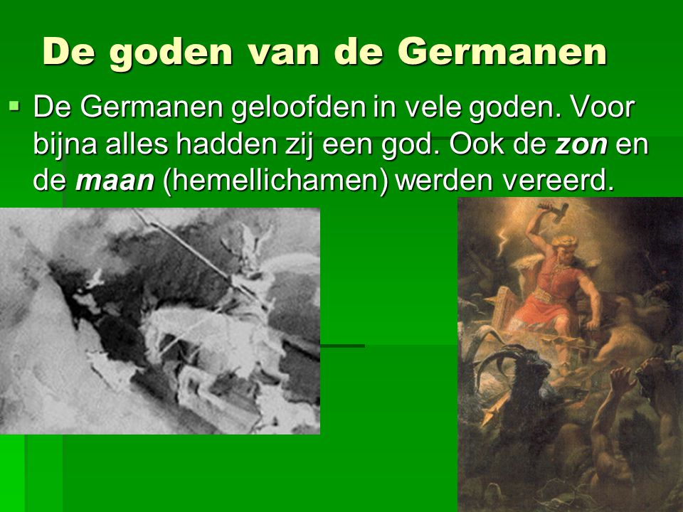 De goden van de Germanen