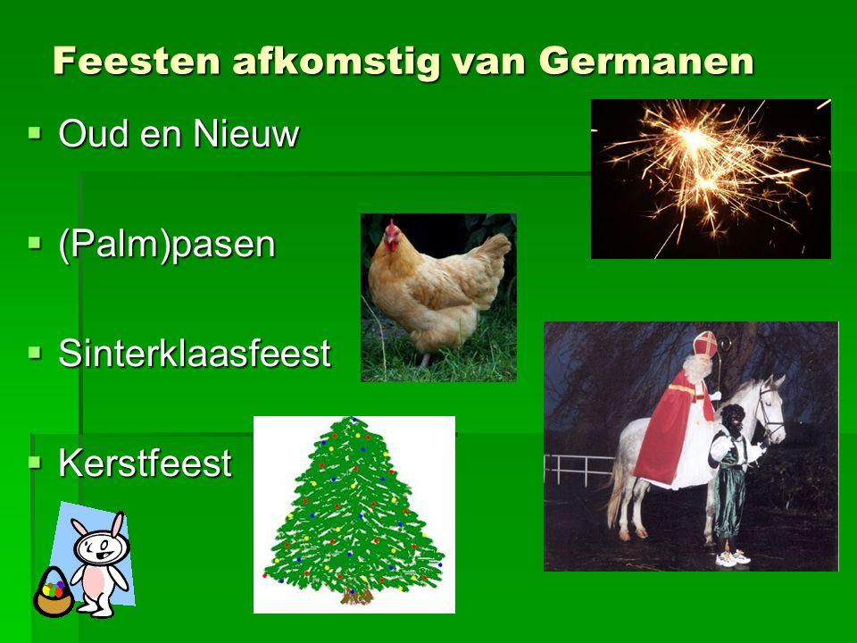 Feesten afkomstig van Germanen
