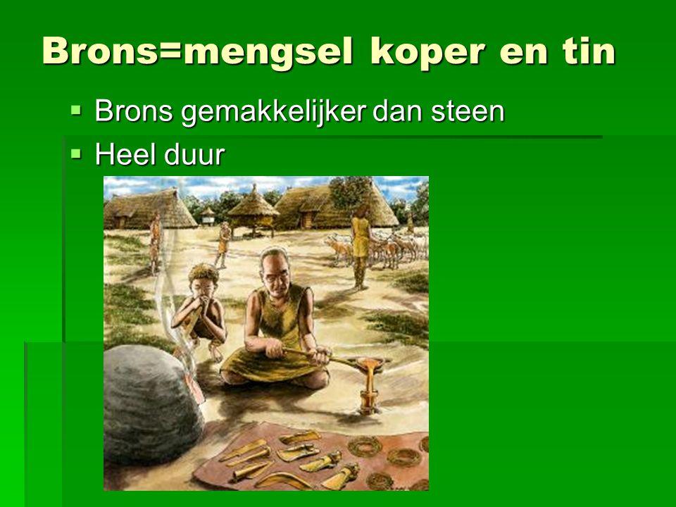 Brons=mengsel koper en tin