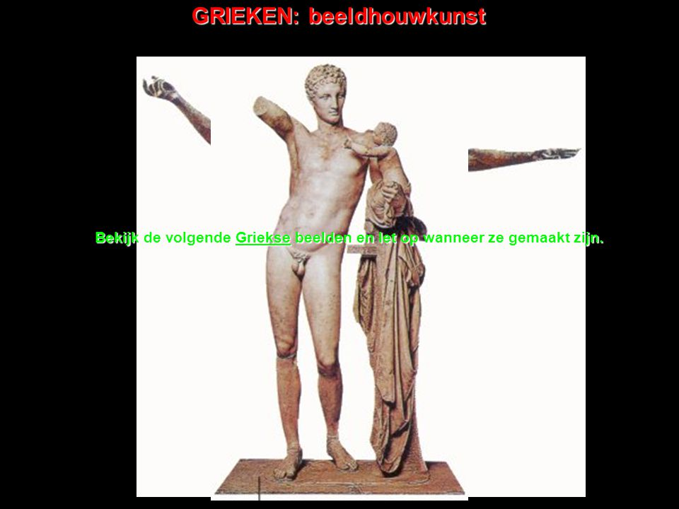 GRIEKEN: beeldhouwkunst