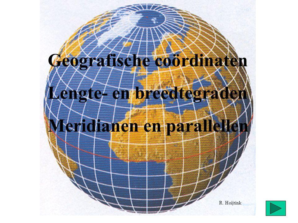 Geografische coördinaten Lengte- en breedtegraden