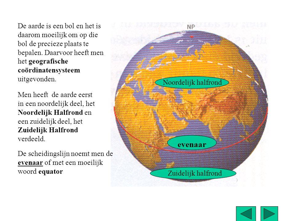 De aarde is een bol en het is daarom moeilijk om op die bol de precieze plaats te bepalen. Daarvoor heeft men het geografische coördinatensysteem uitgevonden.