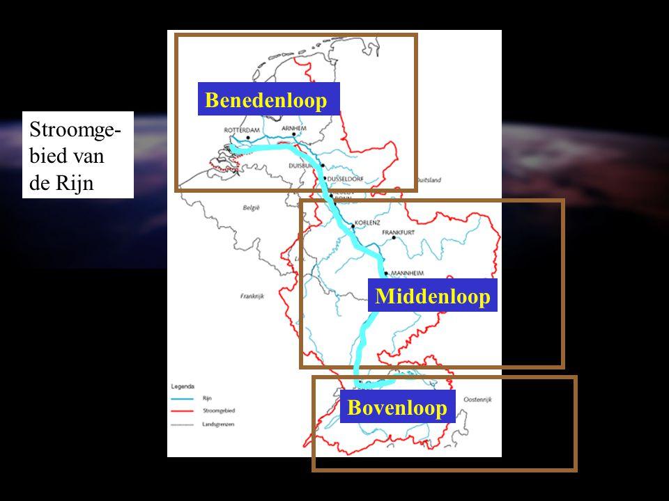 Benedenloop Stroomge-bied van de Rijn Middenloop Bovenloop