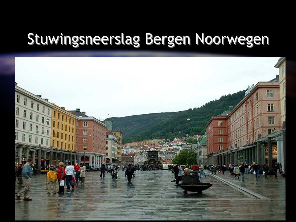 Stuwingsneerslag Bergen Noorwegen