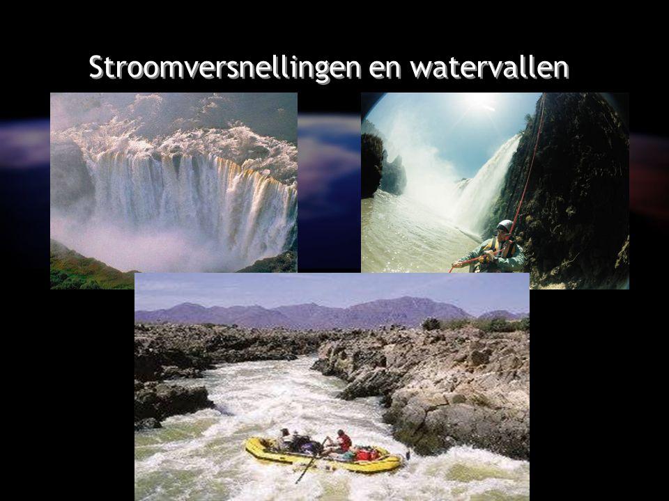 Stroomversnellingen en watervallen