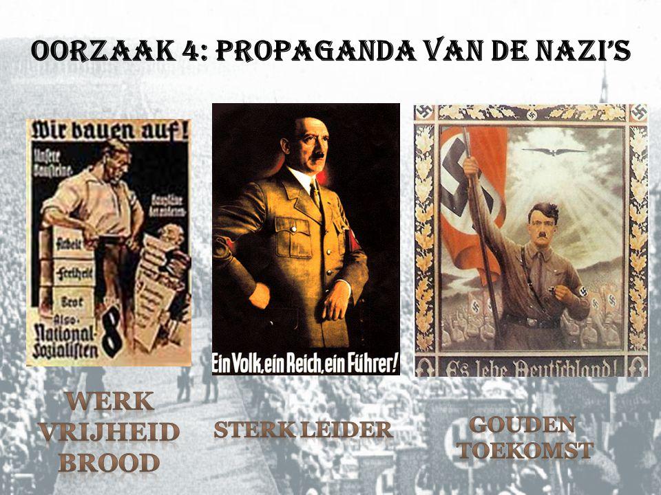 Oorzaak 4: Propaganda van de nazi's