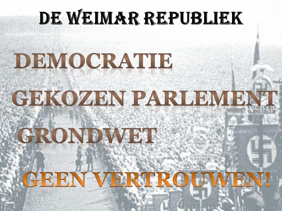 Democratie GEKOZEN PARLEMENT gRONDWET GEEN VERTROUWEN!
