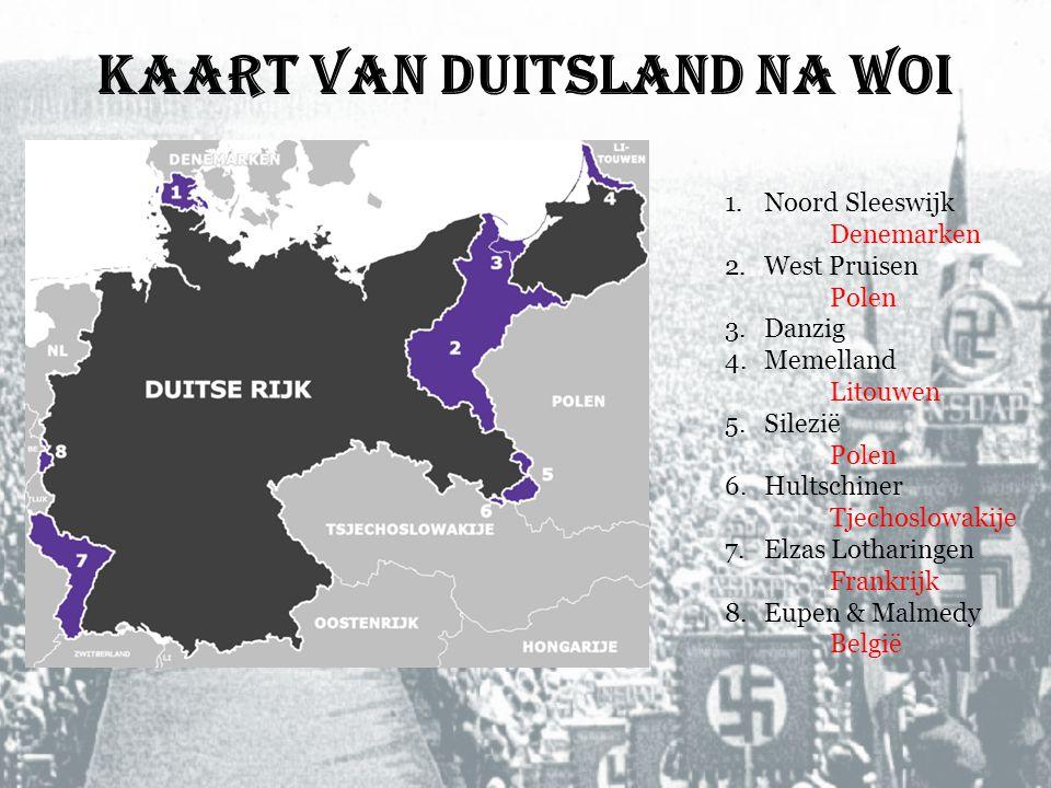 Kaart van Duitsland na WOI