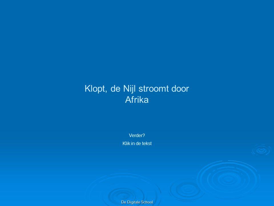 Klopt, de Nijl stroomt door Afrika