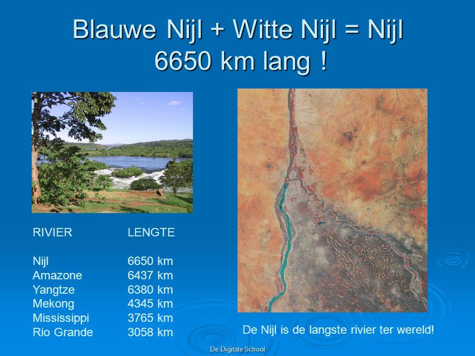 Blauwe Nijl + Witte Nijl = Nijl 6650 km lang !