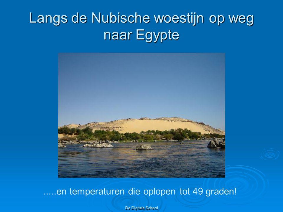 Langs de Nubische woestijn op weg naar Egypte