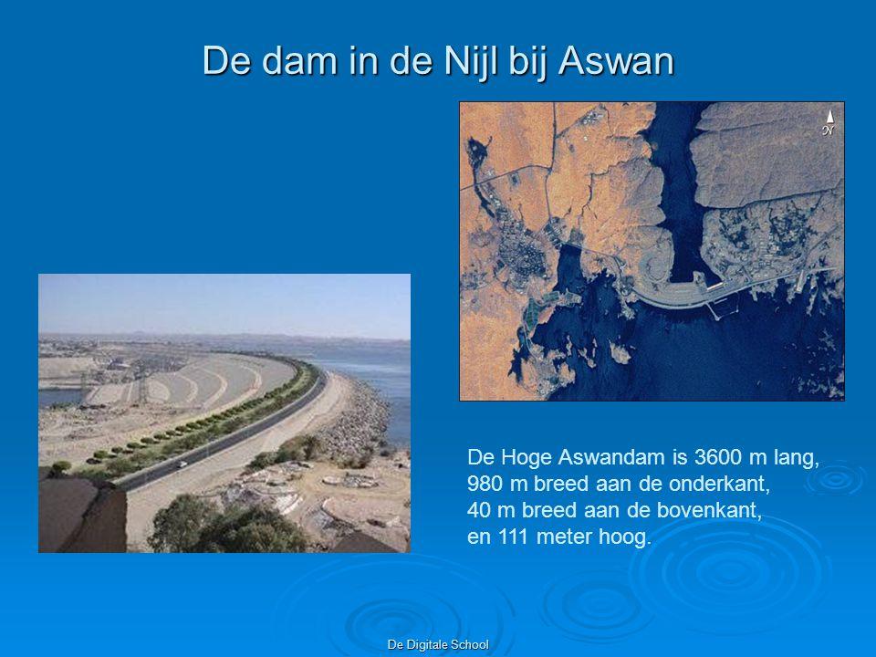 De dam in de Nijl bij Aswan