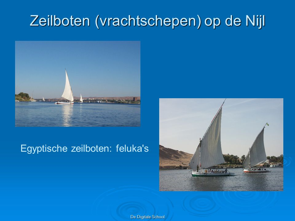 Zeilboten (vrachtschepen) op de Nijl