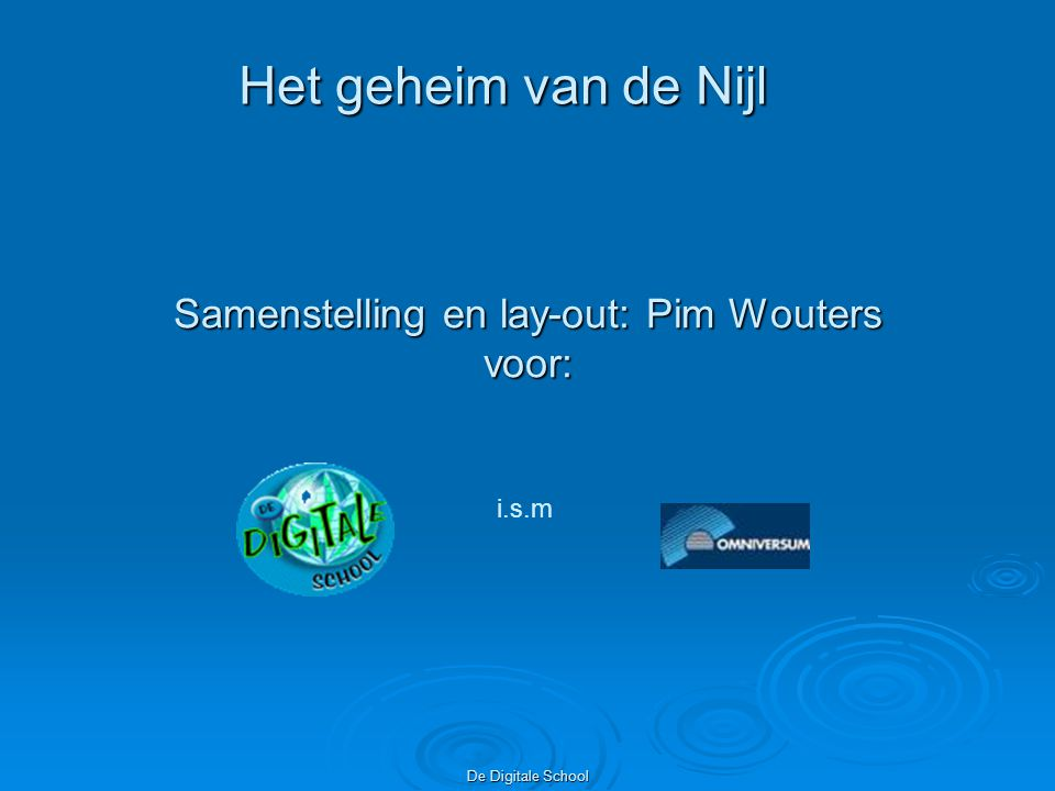 Samenstelling en lay-out: Pim Wouters