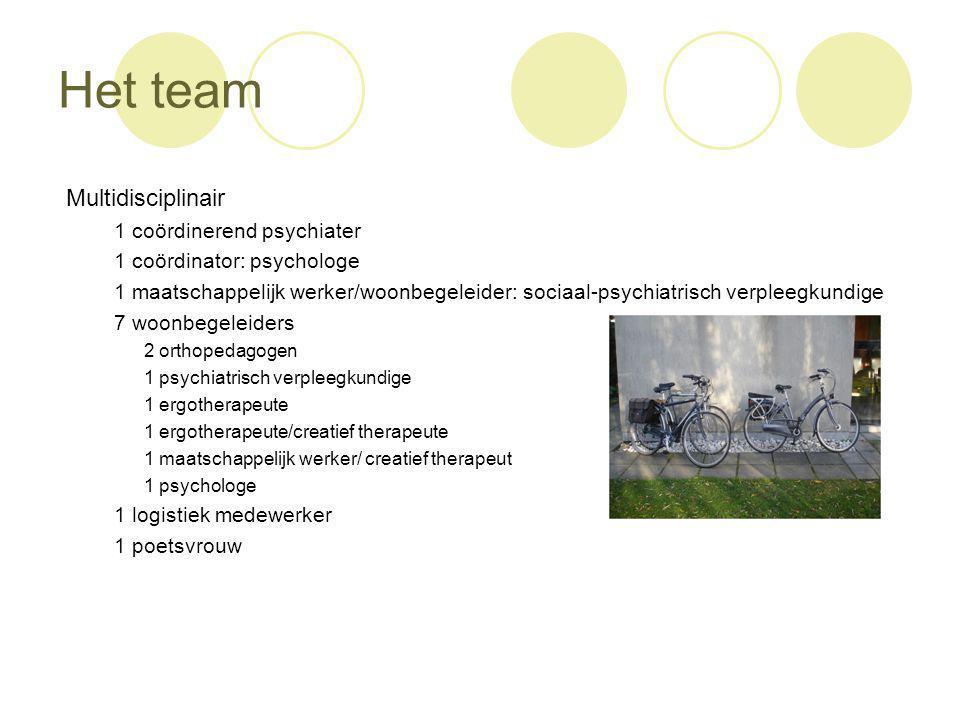 Het team Multidisciplinair 1 coördinerend psychiater
