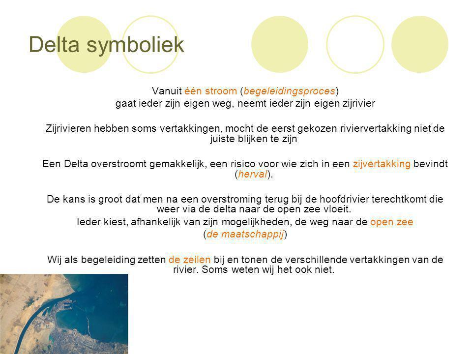 Delta symboliek Vanuit één stroom (begeleidingsproces)