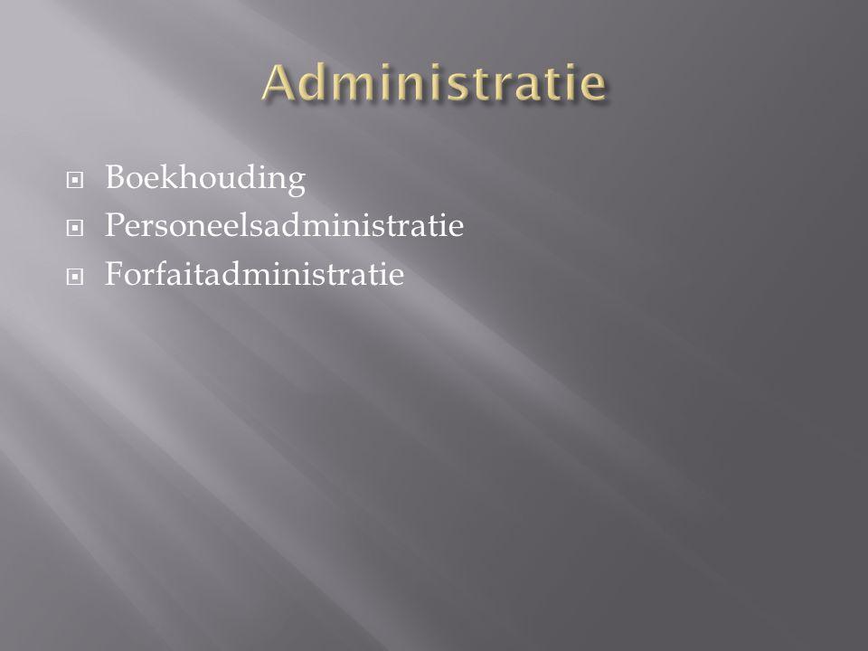Administratie Boekhouding Personeelsadministratie Forfaitadministratie