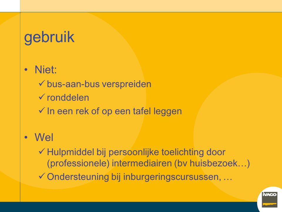 gebruik Niet: Wel bus-aan-bus verspreiden ronddelen
