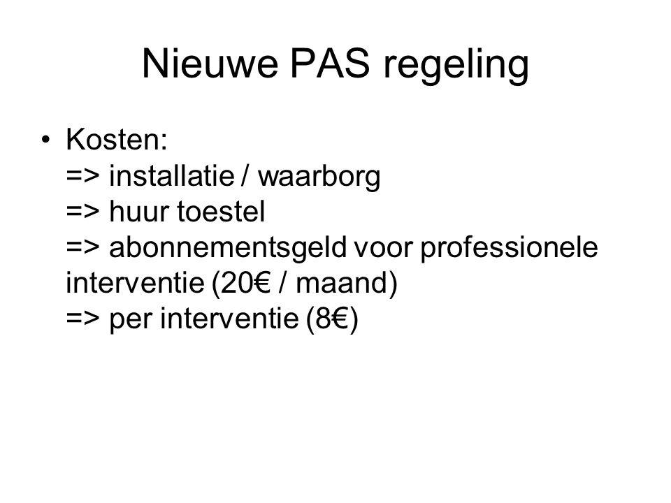 Nieuwe PAS regeling