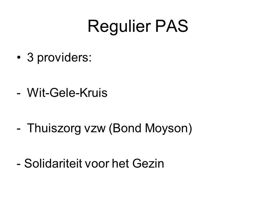 Regulier PAS 3 providers: Wit-Gele-Kruis Thuiszorg vzw (Bond Moyson)