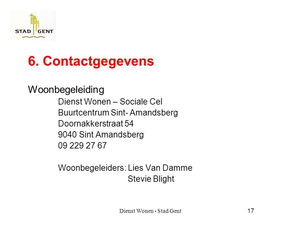 Dienst Wonen - Stad Gent