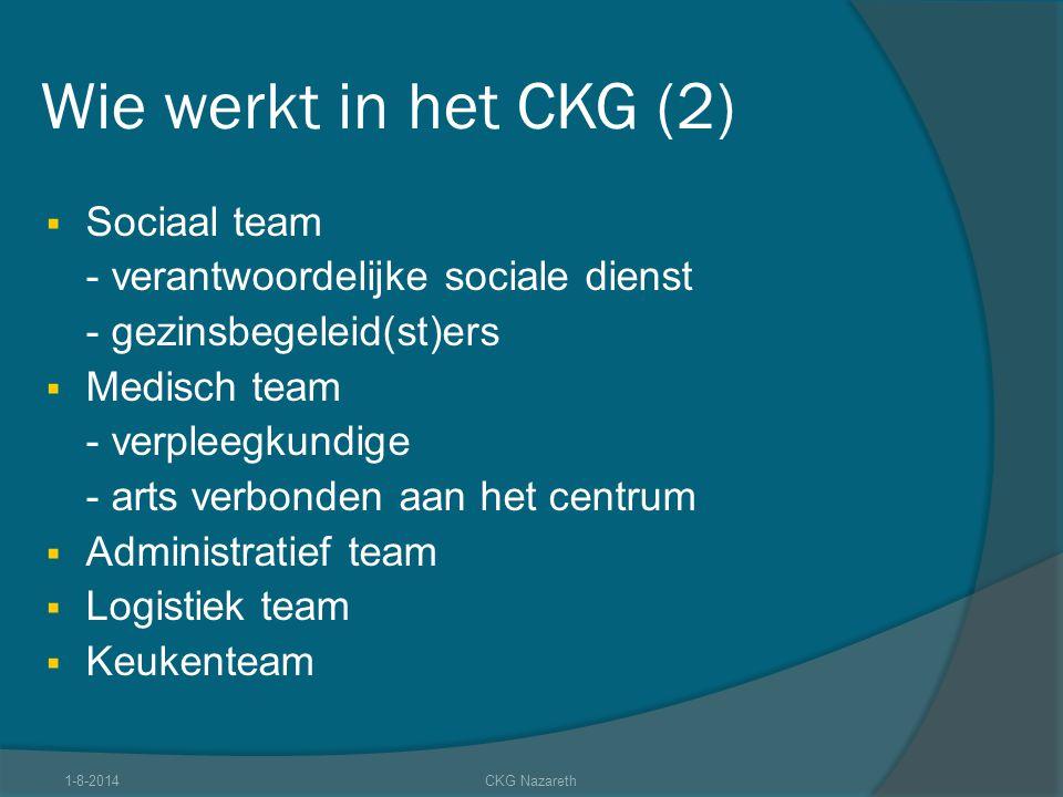 Wie werkt in het CKG (2) Sociaal team