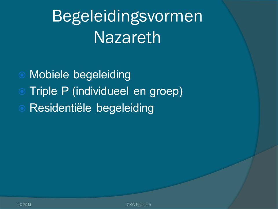 Begeleidingsvormen Nazareth