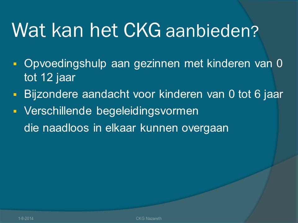 Wat kan het CKG aanbieden