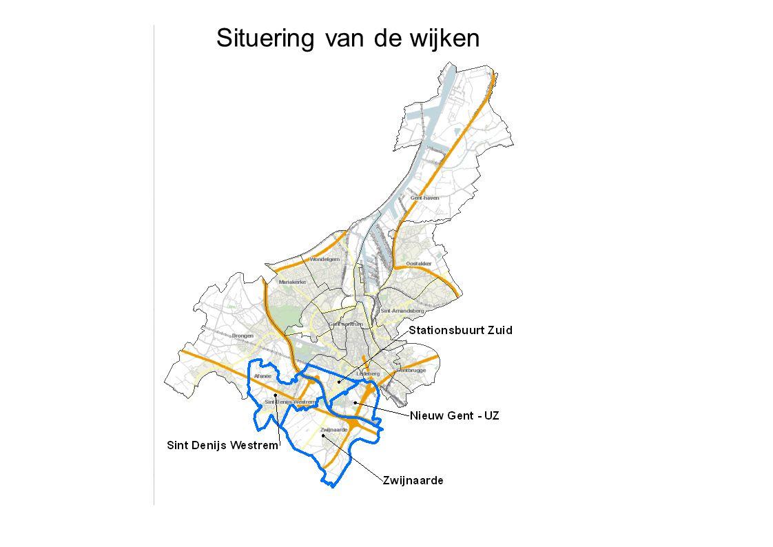 Situering van de wijken