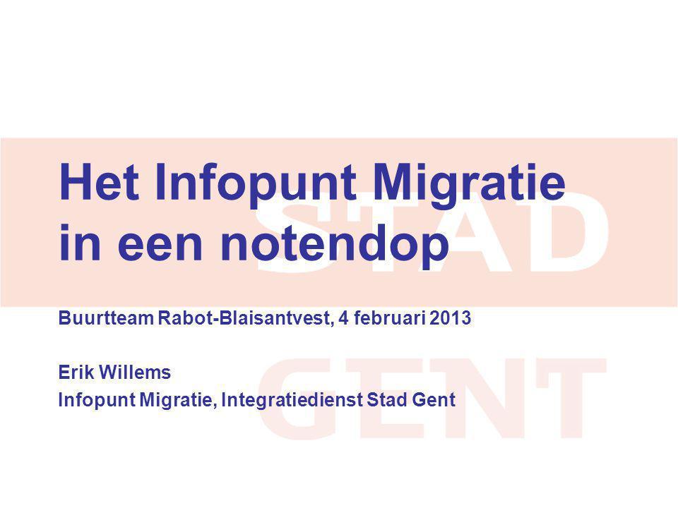 Het Infopunt Migratie in een notendop