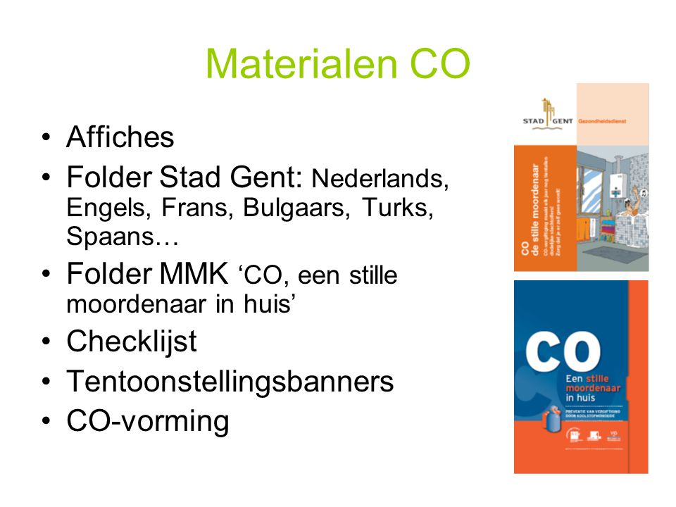 Materialen CO Affiches