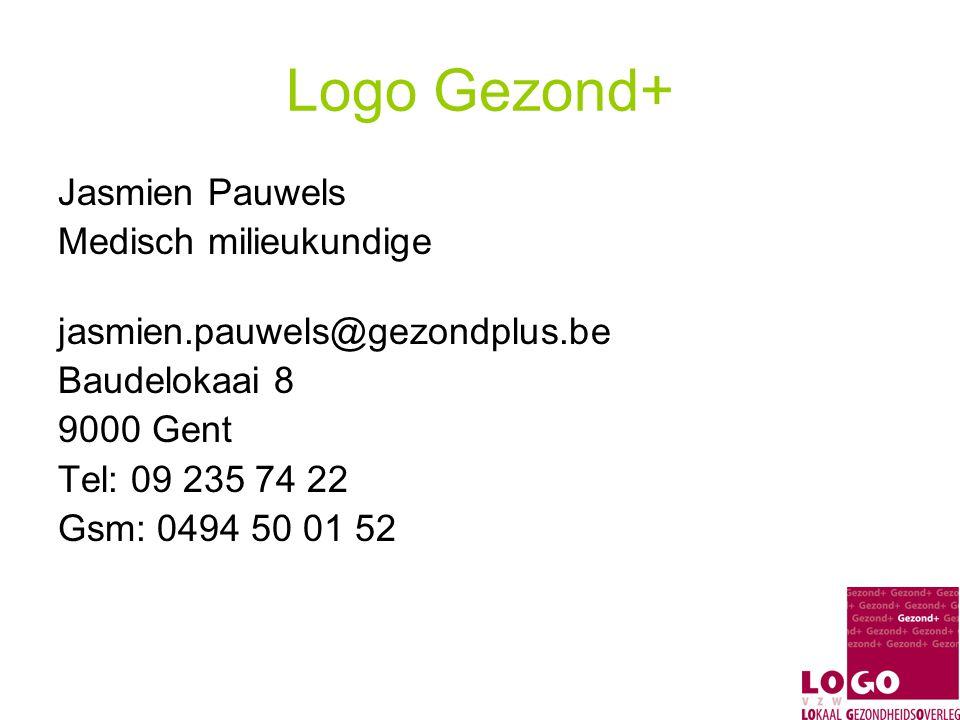 Logo Gezond+ Jasmien Pauwels Medisch milieukundige
