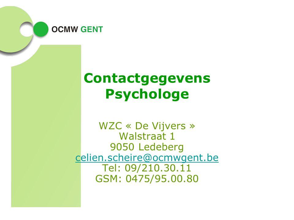 Contactgegevens Psychologe