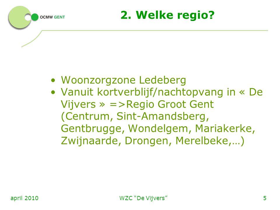 2. Welke regio Woonzorgzone Ledeberg