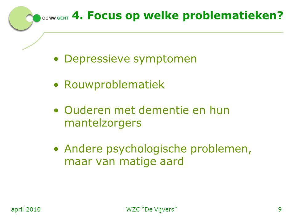 4. Focus op welke problematieken