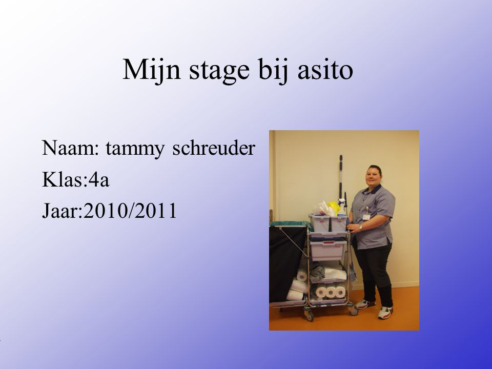 Naam: tammy schreuder Klas:4a Jaar:2010/2011