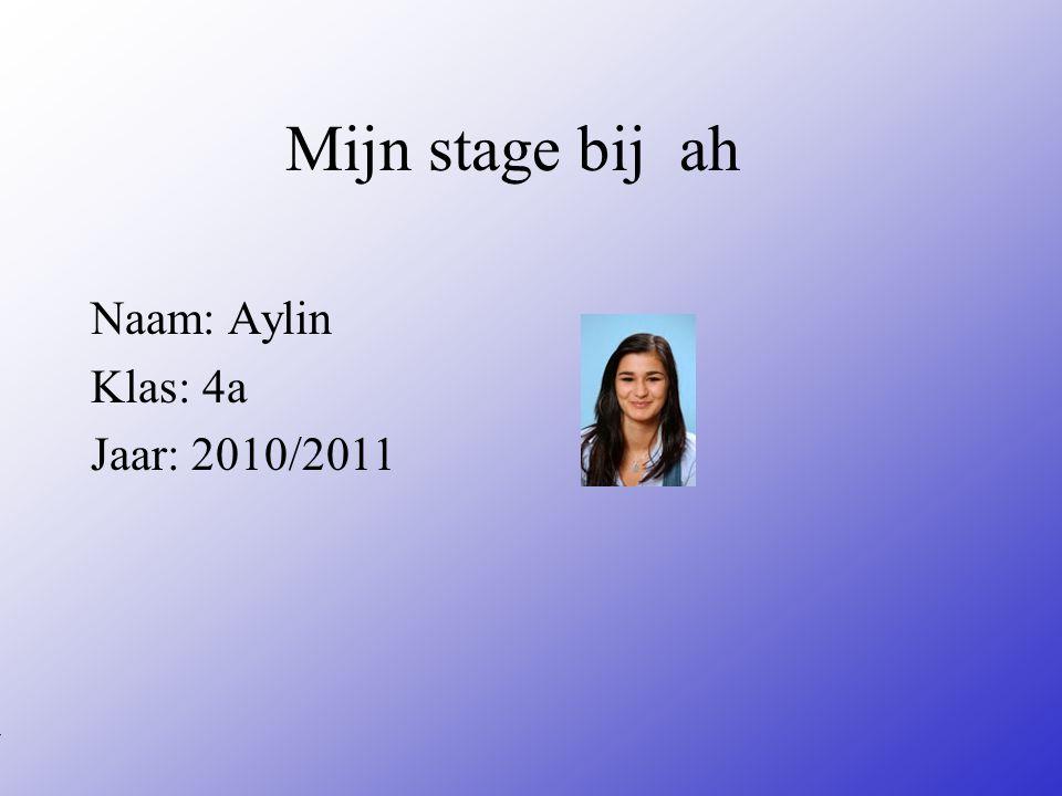 Naam: Aylin Klas: 4a Jaar: 2010/2011