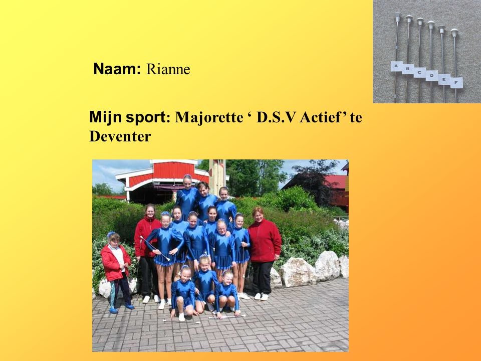 Mijn sport: Majorette ' D.S.V Actief' te Deventer