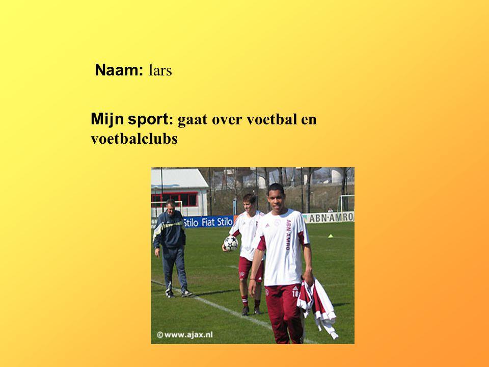Mijn sport: gaat over voetbal en voetbalclubs