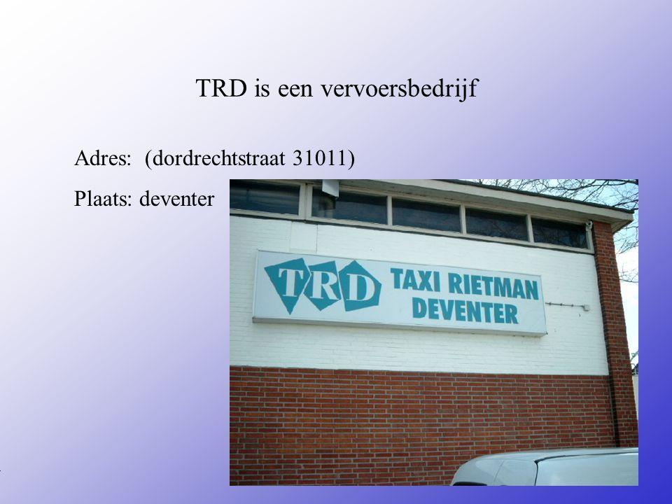 TRD is een vervoersbedrijf