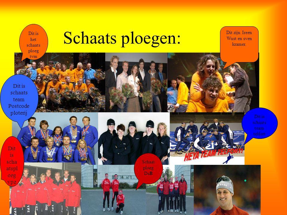 Schaats ploegen: Postcodeploterij Dit is schaatsploeg vpz