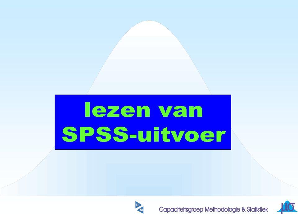 lezen van SPSS-uitvoer