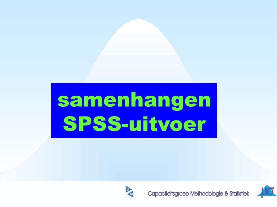 samenhangen SPSS-uitvoer